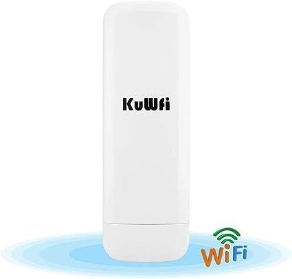 Punto de acceso inalámbrico,KuWFi 300 Mbps Wireless Outdoor CPE con WiFi Reapter larga distancia del punto de acceso inalámbrico WiFi puente exterior ...