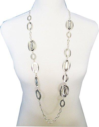 Chico's Jewelry Bailey Single Strand Necklace in Silver RV$59 (Chicos Design)