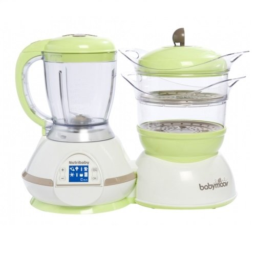 Babymoov Nutribaby - 5 in 1 Baby Food Maker with Steam Cooker, Blend & Puree, Warmer, Defroster, Sterilizer