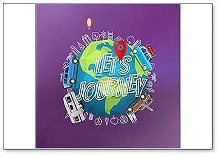 Lets Journey Concept. Imán para nevera con el logo de la Tierra ...