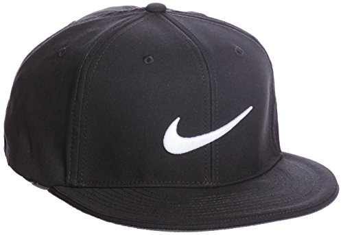 Nike Golf True Statement Tour Fitted Hat (Black/White) - Fitted True Cap