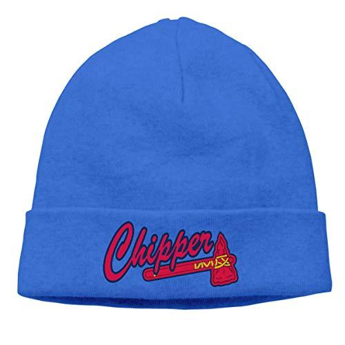Moore Me Men's Winter Warm Beanie Hats Navy Atlanta Chipper Logo Slouchy Beanie for Women (Biography Jones Chipper)