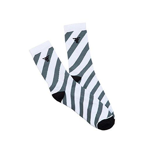 Meia Fallen Striped Rwtf - Cinza - U