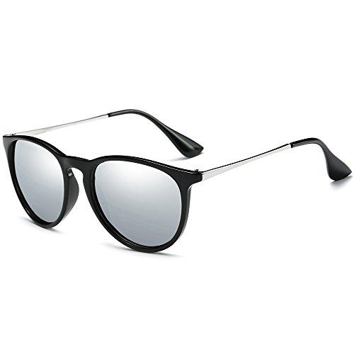 WELUK Stylish Round Mirrored Polarized Sunglasses Glare-Reducing 100% UV400 Protection - By Sunglasses Used Service Secret