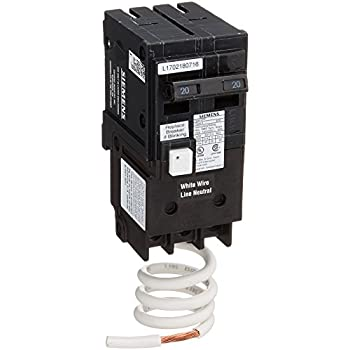 siemens qf220a ground fault circuit interrupter, 20 amp, 2 pole, 120v,  10,000 aic,