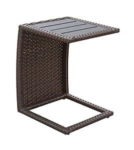 Muebles de América Zilker moderno Patio mesa auxiliar (Set de 2), Espresso