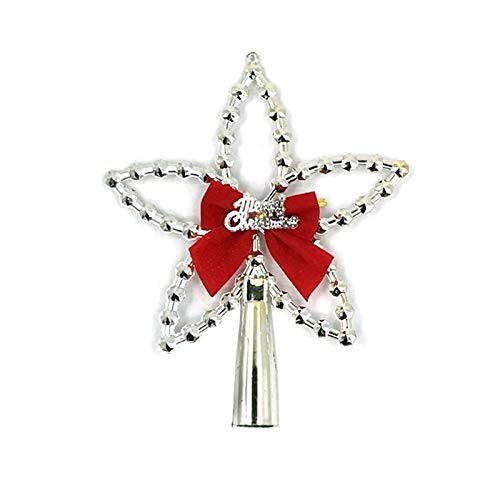 Best Quality Hah Christmas Tree Top Ornaments Xmas Decorations for Home DIY Star Red Gold Christmas Tree Decoration Topper 2018 New ()