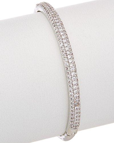Johnson Betsey Bracelet Womens (Betsey Johnson betsey blue pave silver hinged bangle bracelet)