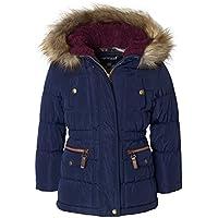 Sportoli Girls' Fashion Anorak Winter Puffer Jacket Coat with Plush Lined Hood