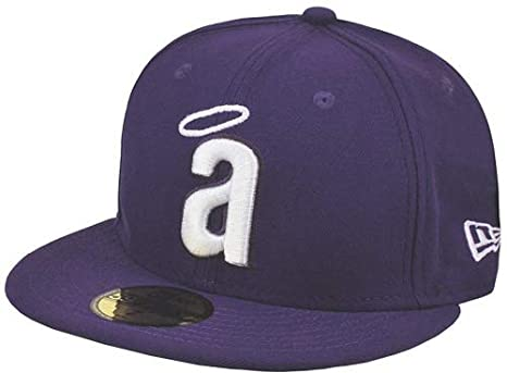b5cdbb3a7affd Amazon.com : New Era MLB Anaheim Angels Purple 59fifty Fitted Cap : Clothing