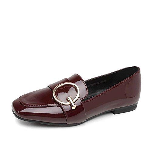 PUMPS Lady Kitten Heel,Square Toe Schuhe,Tief eingeschnittenen Dünne Schuhe-B Fußlänge=23.8CM(9.4Inch)