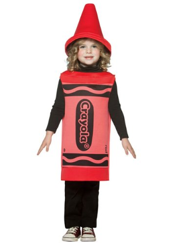 Toddler Red Crayon Costumes (Crayola Crayon Baby Infant Costume Red - Infant Large)