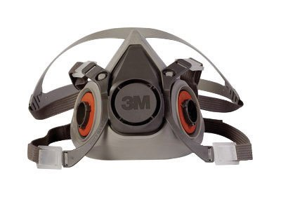 3M Medium Thermoplastic Elastomer Half Mask 6000 Series Reusable Standard Respirator With 4 Point Harness And Bayonet Connection by 3M