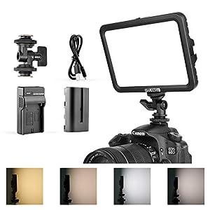 Best Epic Trends 41A33HaaZXL._SS300_ Camera Lighting-YELANGU LED Video Light:Adjustable Bi-Color Dimmable 3300K-5600K Light Panel, 204 Beads CRI95+ Lighting…