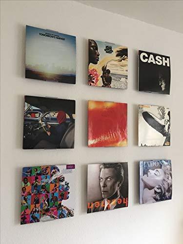 Record Album Holder Wall Mount Hanger Shelf Display Frames (9 Pack)