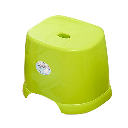 - Bath Stool,Thick-type Plastic Bathroom Non-slip Stool,Green Living Room Sofa Stool Size: 37x28x28cm