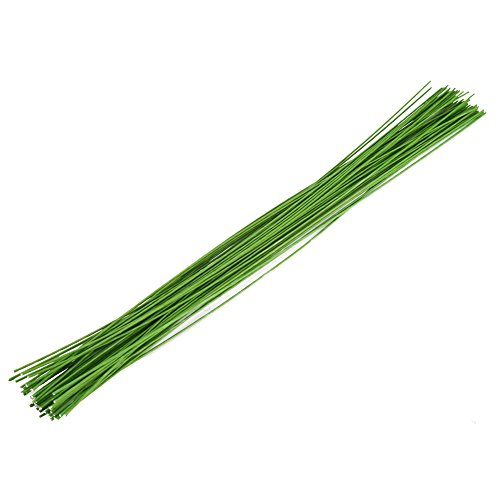 Decora 24 Gauge Green Floral Wire Green Paper-Wrapped Floral Stem Wires for Crafts 16 ()