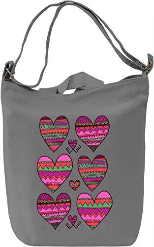 Graphic Heats Borsa Giornaliera Canvas Canvas Day Bag| 100% Premium Cotton Canvas| DTG Printing|