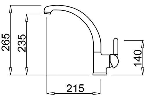 Titanium 73 21.5x10x26.5 cm Elleci Mix Po Miscelatore Monocomando con Canna Girevole