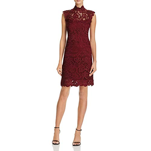 Laundry by Shelli Segal Womens Crochet Lace Cocktail Dress Red 6 from Laundry by Shelli Segal