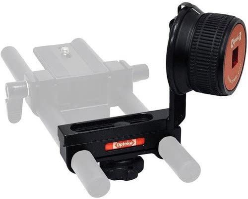 Fits 15mm Rods//Rigs Opteka CXS-800 Gearless Metal Follow Focus System for DSLR and Mirrorless Cameras