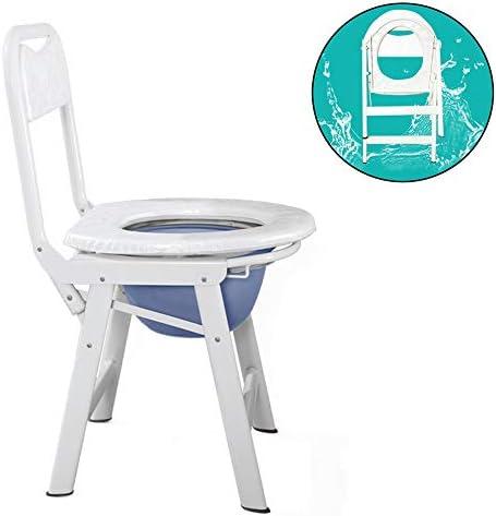 HXLQ トイレ椅子、便器の椅子を折りたたみ、便器の椅子高齢者用トイレポータブルしゃがむ椅子、妊娠中しゃがむポータブル家庭用しゃがむ椅子、屋根付きトイレ