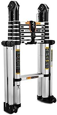 Telescópica extensible Escalera Escalera Portátil Aframe telescópica plegable Loft escalera extensible, multiusos de aluminio Escalera plegable for el hogar Oficina de Ingeniería lxhff: Amazon.es: Bricolaje y herramientas