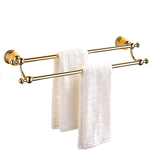 ATR Shower Towel Holders Wall Mounted Towel Bar Towel Rack Towel Shelf Towel Stand Towel Rail Towel Stacker Storage Holder Jade Stone Double Rod LengthenATR (Stacker Stone)
