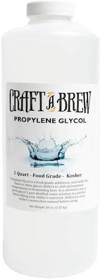 Craft A Brew Propylene Glycol-Food Grade-USP-100% Pure-Kosher-Non-Toxic Antifreeze Solution, 1 Quart (32 oz), Made in USA