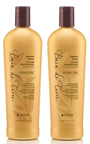 Bain de Terre Passion Flower Color Preserving Shampoo and Conditioner Set 13.5 oz....