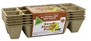 Plantation FS110 Seed Starter Pots (10 Pot, 5 Strips Per Pack, 50 Total)