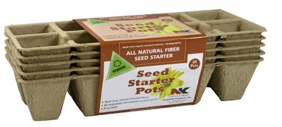 Plantation All-Natural Fiber Biodegradable Seed Started Pots Trays For Indoor or Outdoor Planting, 5 Count (Pack of (Plantation Garden)