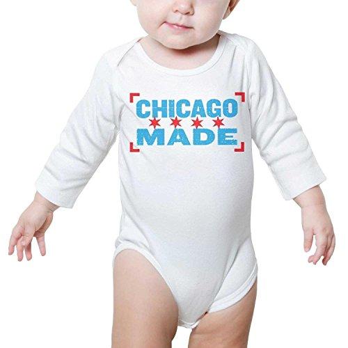 TylerLiu Illinois State Chicago Made Unisex Baby Boys Girls Onesie Bodysuit Soft Comfortable