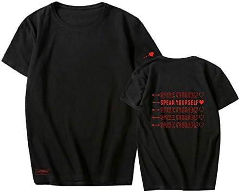T-shirt z krÓtkim rękawem dla kobiet i mężczyzn BTS Speak Yourself Concert White z krÓtkim rękawem, szeroka koszulka dla miłośnikÓw Army.2013.6.13.from-Jungkook: Odzież