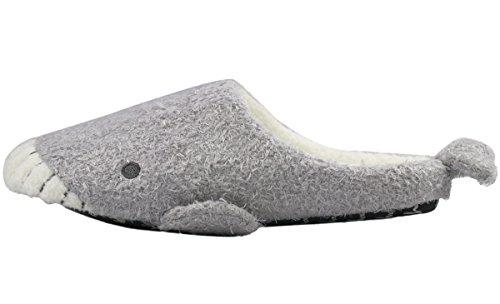 Pantofole Da Casa Sfocate Da Donna Forucreate Grigie