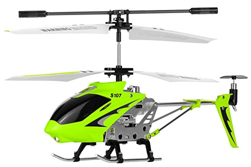 Syma S107G 3 Channel RC Radio Remote Control Helicopter with Gyro - Green]()