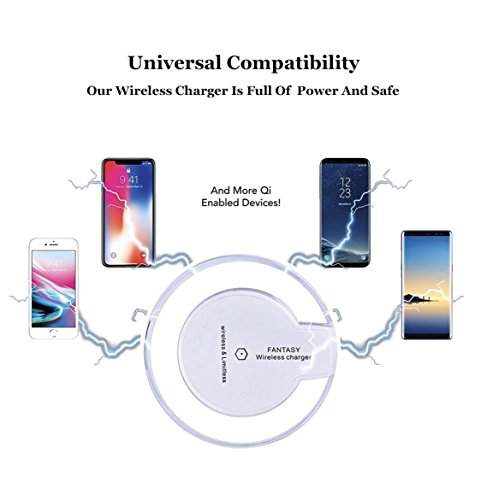 ✅✔️ Iphone X Wireless Charger For 10, X , 8, 8 + AND ALL QI ENABLED SMARTPHONES