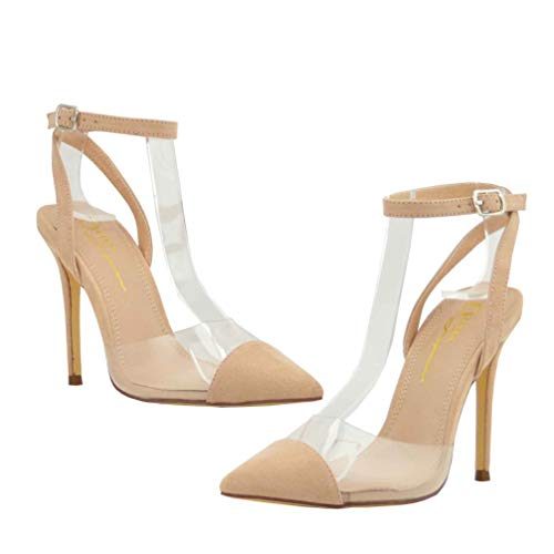 Olivia and Jaymes Women's Pointed Toe Transparent Clear for sale  Delivered anywhere in USA