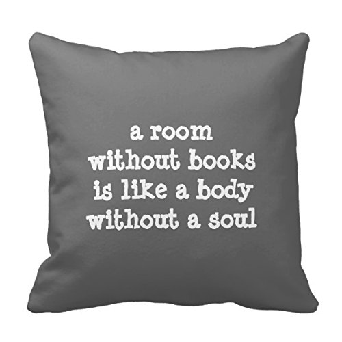 Right A Room Without Books Cicero Quote Pillow Case Cotton Decorative Throw Pillow Case Decor Cushion Coversr 18x18 inches