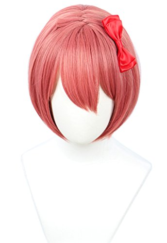 Linfairy Halloween Cosplay Wig For Women (red) with red (Best Wig With Bows)