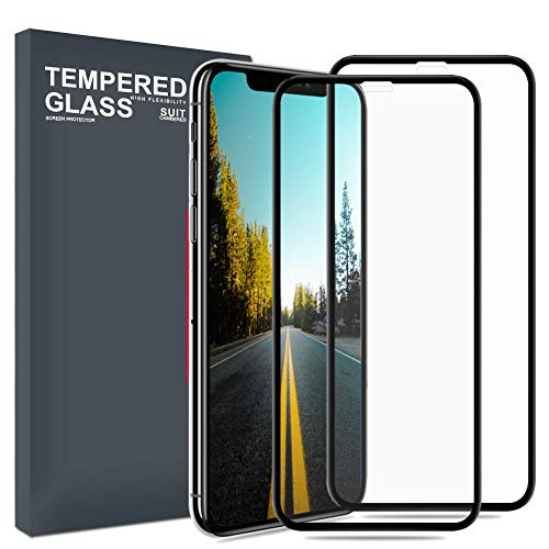 Meidom Screen Protector for iPhone Xs [2-Pack] Full Coverage Case Friendly and No-Bubble 9H Tempered Glass Compatible iPhone Xs - Black