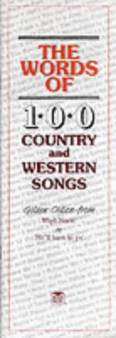 Words Of 100 Country And Western Songs Divers Ossian Publications Country & Western Musique