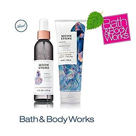 Bath & Body Works MOONSTONE Set - Body Cream and Fine Fragrance Mist Full Size
