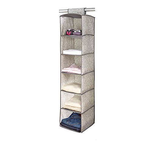 Laura Ashley 6 Shelf Closet Organizer in Almeida, Dove Grey