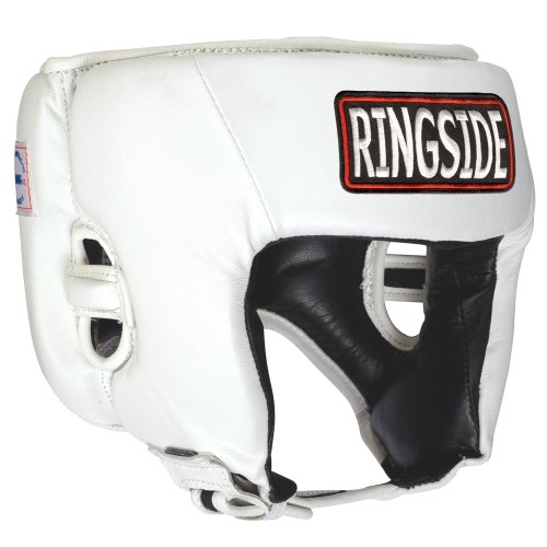 Ringside Competition Boxing Muay Thai MMA Sparring Head Protection Headgear Without Cheeks, White, - Boxing Amateur Headgear