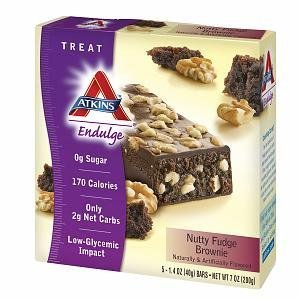 Nutty Fudge - Atkins Endulge Brownie, Nutty Fudge 5 ct (Quantity of 5) by Atkins