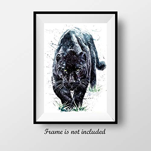 7Dots Art. Wild Animals. Watercolor Art Print, Poster 8
