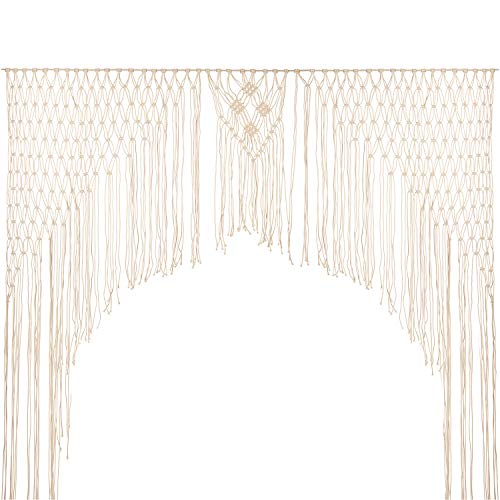 - Large Macrame Wall Hanging,Modern Macrame,Macramé Handwoven Boho Chic,Bohemian Wedding Backdrop for Home Art Decor,Living Room Bedroom Decorations,Ceremony or Photography. 5FT X 6FT