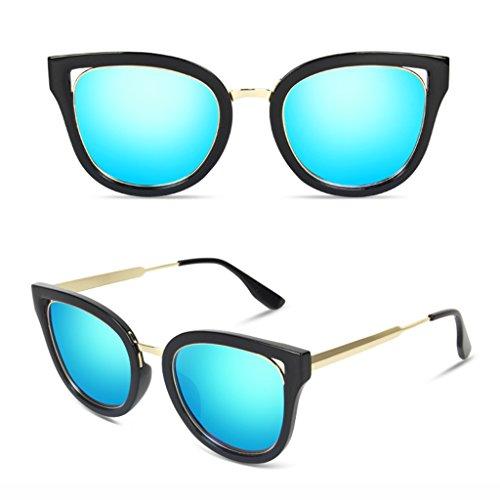 de Retro Lenses Silver Blue Soleil Lunettes Elegant Mme Polarized Eye Personality Drive Lunettes Couleur Soleil de Lenses Glasses F6pw0ydqw