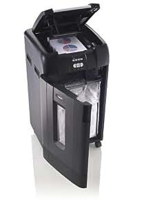 Rexel Auto+ 750X - Destructora de papel con alimentación automática (corte en confeti, cuchilla autolimpiable, 115 litros), color negro